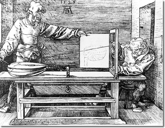 Abbildung aus Dürers Underweysung… (1525)