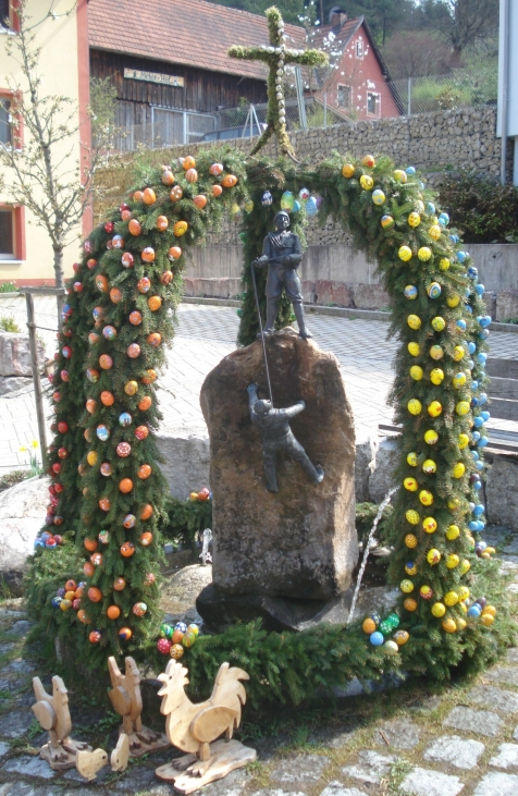 Osterbrunnen in Haunritz