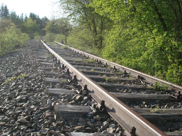 Verlassene Eisenbahntrecke