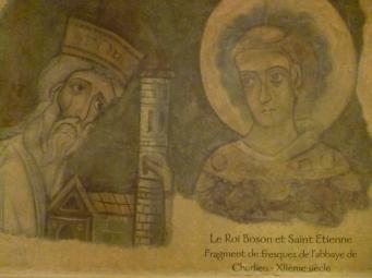 Fresco in der Abtei Saint-Fortunat (Foto: schrittWeise)