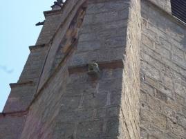 Steingesicht auf dem Kirchenturm (Fotorechte: schrittWeise)