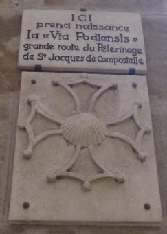 """Berühmte Tafel """"Via Podiensis"""" (Fotorechte: schrittWeise)"""