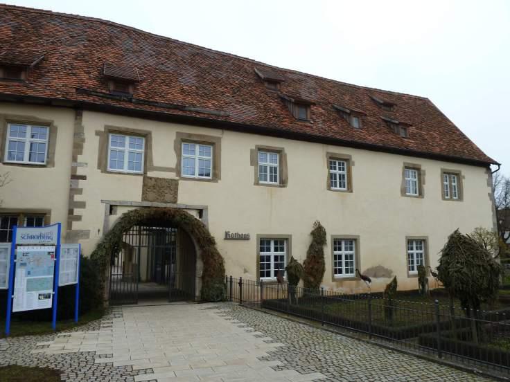 Das Rathaus von Schrozberg (Fotorechte: Dario schrittWeise)