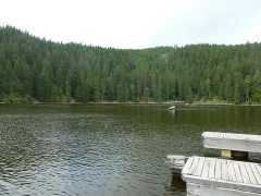 Der See und die Tretboote