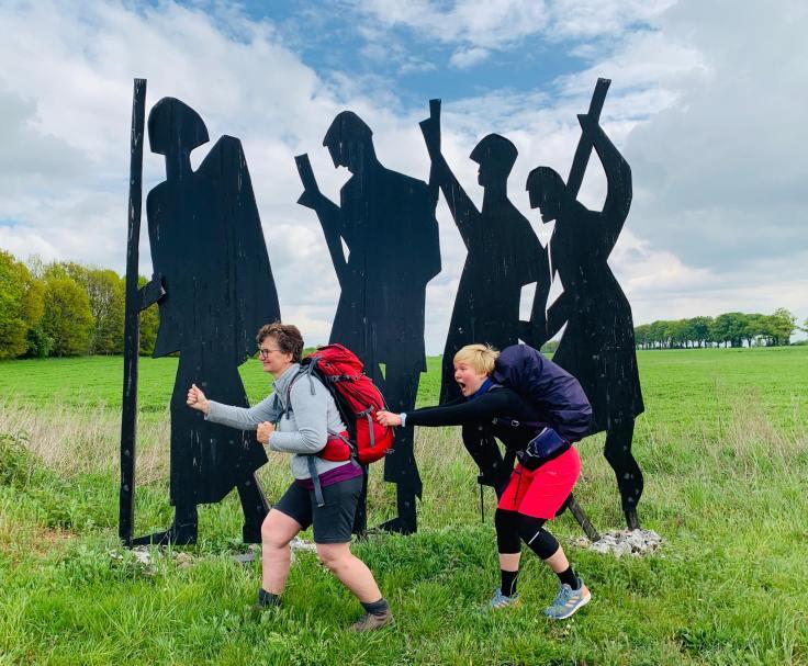 Beim Pilgern kommt auch der Spaß nicht zu kurz, Fotorechte: Annelie Voland