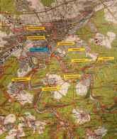 Die Karte von Pforzheim und Umgebung
