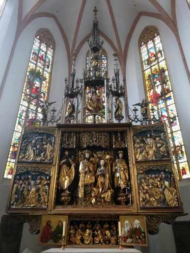 Hochaltarretabel, 1502 - 08, Stadtkirche St. Johannes der Täufer und St. Martin in Schwabach, Veith Stoß, Umfeld des Veith Stoß, Werkstatt Michael Wolgemut
