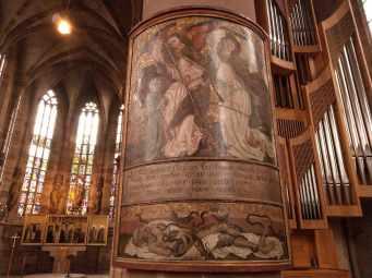 Epitaph für Michael Raphael (+1489) aus der Nürnberger Dominikanerkirche, in der Nürnberger Frauenkirche zu sehen, Werkstatt Michael Wolgemut